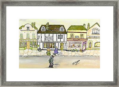 Framed Print featuring the painting High Street by Loredana Messina