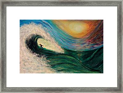 High Surf Framed Print by Phoenix The Moody Artist
