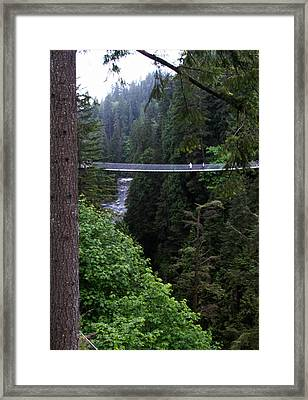 High Swinging Bridge Framed Print by Qing