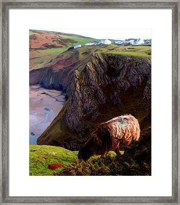 Framed Print featuring the digital art High Table by Ron Harpham
