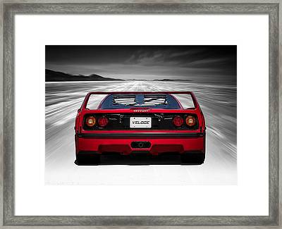 High Tailin' It Framed Print by Douglas Pittman
