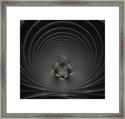 High Tech Dark Silver And Black Framed Print by Georgiana Romanovna