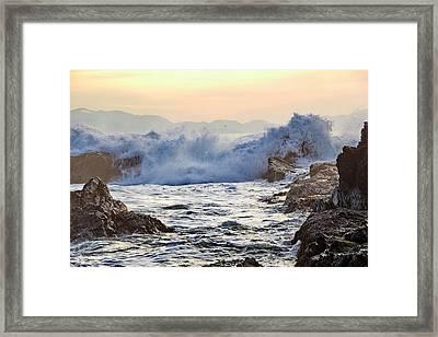 High Tide At Port Renfrew Framed Print
