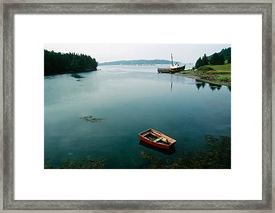 High Tide, Campobello Framed Print by Andrew J. Martinez