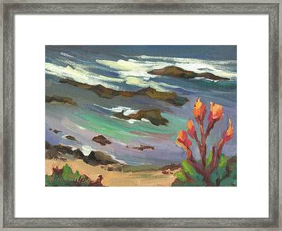 High Tide Framed Print by Diane McClary