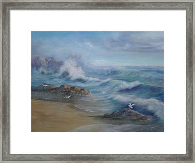 High Tide Framed Print by Rita Palm