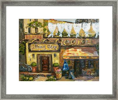 High Time In Lourmarin Framed Print