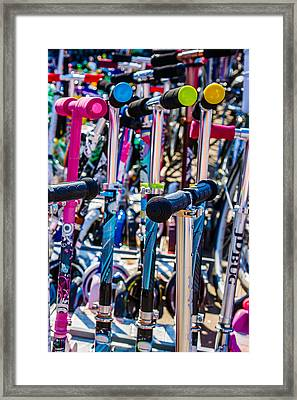 High Time To Buy A Scooter 3 Vertical Framed Print by Alexander Senin