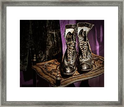 High Top Shoes Framed Print by Nikolyn McDonald
