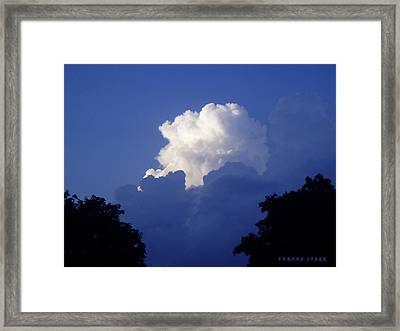 High Towering Clouds Framed Print