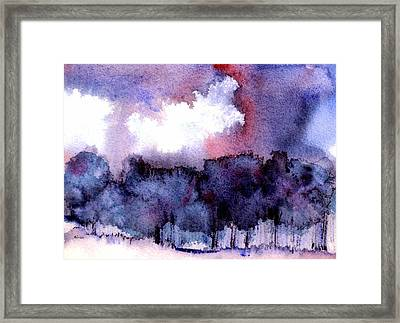 Framed Print featuring the painting High Valley Weather by Anne Duke