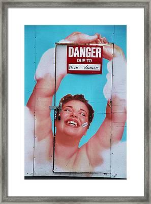 High Voltage Framed Print by Allen Beatty