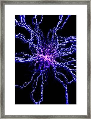 High Voltage Discharge Framed Print