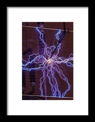 Heat Lightning Framed Prints