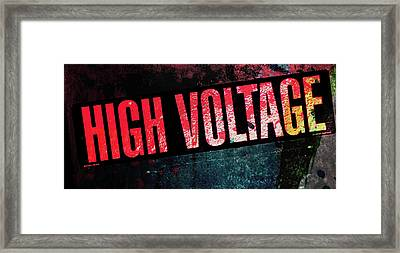 High Voltage - Mike Hope Framed Print
