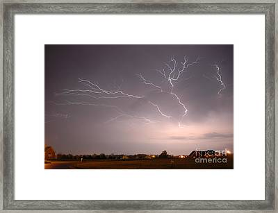 High Voltage Framed Print by Steven Townsend