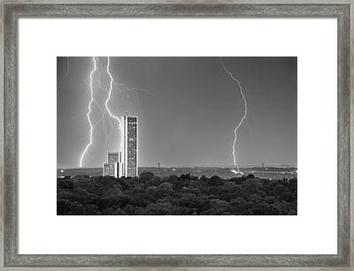 High Voltage Towers - Tulsa Oklahoma Framed Print