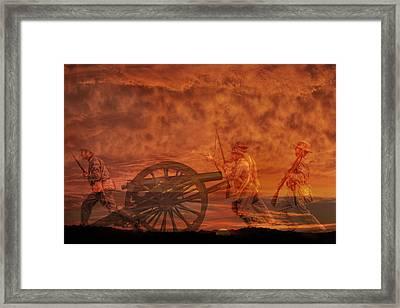 High Water Mark Sunset Framed Print