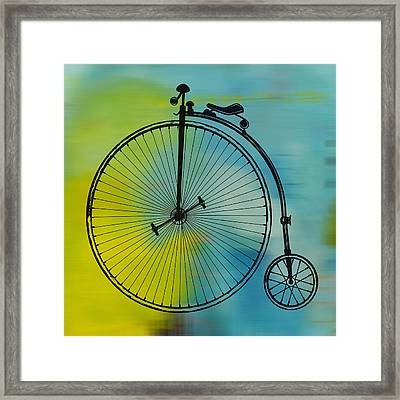 High Wheel Bicycle Framed Print by Marvin Blaine
