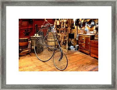 High Wheel 'penny-farthing' Bike Framed Print by Christine Till