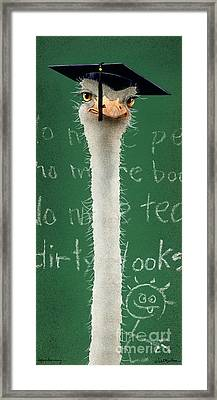Higher Learning... Framed Print by Will Bullas