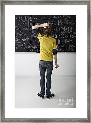 Higher Math Framed Print by Diane Diederich