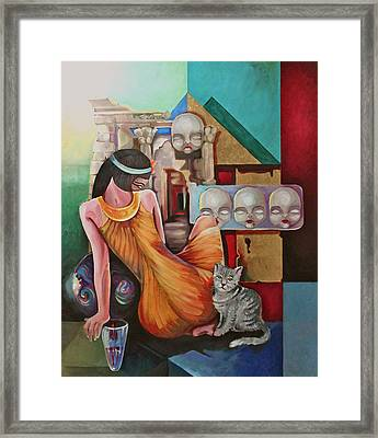 Higher Myth Framed Print by Assem Omar