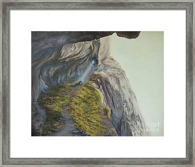 Higher Up  Deeper In Framed Print by Jeanette French