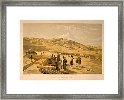 Highland Brigade Camp, Looking South  W. Simpson Framed Print