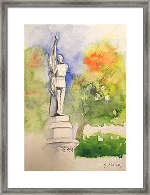 Highland Cemetery-plein Air-ypsilanti Michigan 1 Framed Print