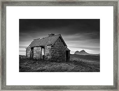 Highland Cottage 1 Framed Print by Dave Bowman