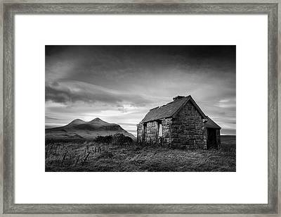 Highland Cottage 2 Framed Print by Dave Bowman