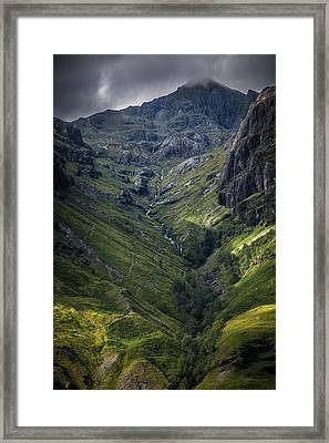 Highland Crevasse Framed Print by Matthew Onheiber