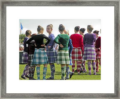 Framed Print featuring the photograph Highland Dancers Scotland by Sally Ross