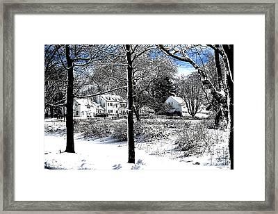 Highland Farm Framed Print by Nina-Rosa Duddy