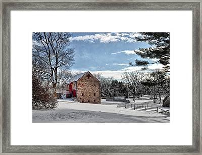 Highland Farms In The Snow Framed Print by Bill Cannon