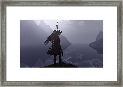 Highland Lass Framed Print