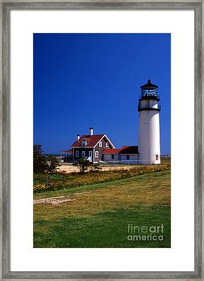 Highland Or Cape Cod Lighthouse Framed Print by Skip Willits