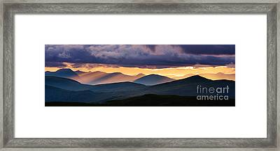 Scottish Highlands From Meall Nan Tarmachan Framed Print by Rod McLean