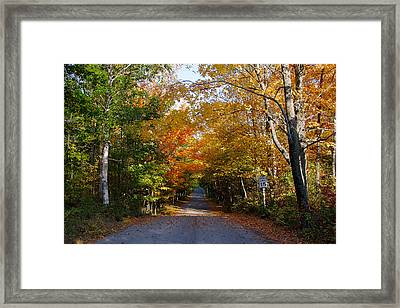 Framed Print featuring the photograph Highland Road by Chuck De La Rosa
