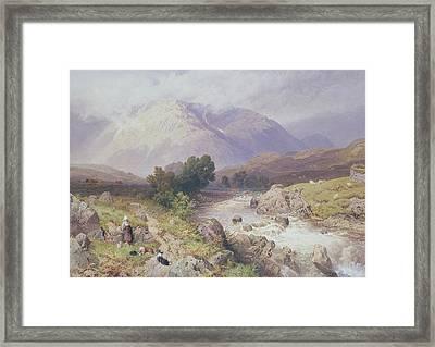 Highland Scene Near Dalmally Argyll Framed Print by Myles Birket Foster