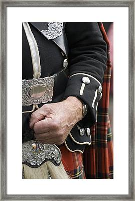 Framed Print featuring the photograph Highland Scottish Soldier by Sally Ross