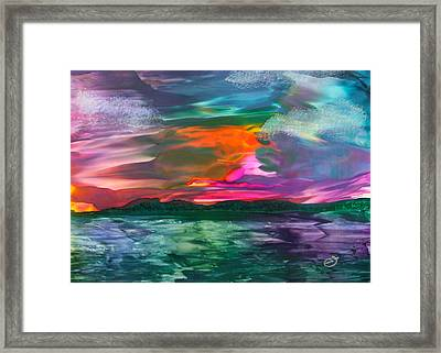 Highland Skies Framed Print