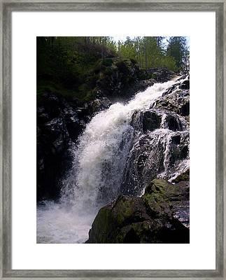 Highland Waterfall Framed Print by R McLellan