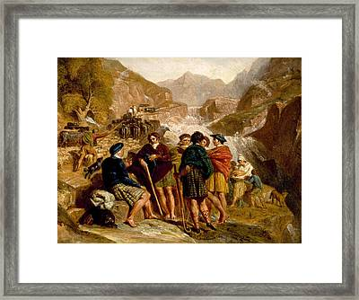 Highlanders Consulting Framed Print by Joshua Cristall