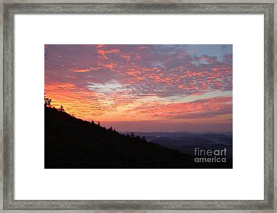 Highlands North Carolina Sunrise In The Great Smokey Mountains 2 Framed Print by Reid Callaway