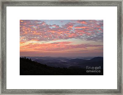 Highlands North Carolina Sunrise In The Great Smokey Mountains Framed Print by Reid Callaway