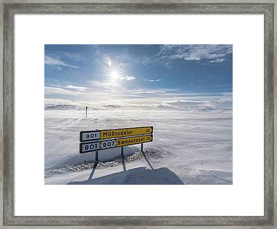 Highlands Of Iceland Close To The Ring Framed Print
