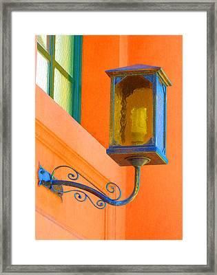 Highlighting Antique Lighting Framed Print
