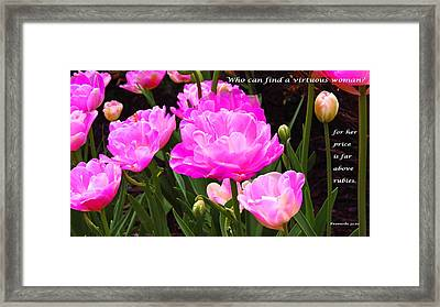 Highly Favored Framed Print by Terry Wallace